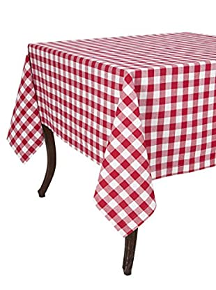 KAF Home Buffalo Check Tablecloth, Cherry, 60