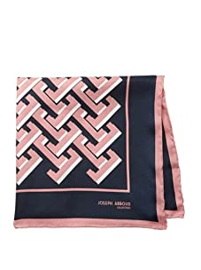 Joseph Abboud Men's Bricks Pocket Square, Pink