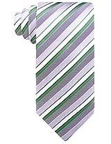 Scott Allan Men's Striped Tie - Green/Gray