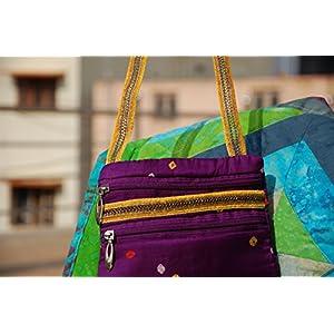 Reinvention Purple Bandhni Sling Bag