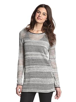 525 America Women's Jersey Mesh Tweed Tunic (Black Combo)