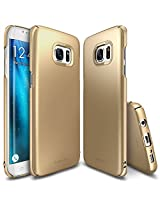 Galaxy S7 Edge Case, Ringke [Slim] Snug-Fit Slender [Tailored Cutouts] Ultra-Thin Side to Side Edge Coverage Superior Coating PC Hard Skin for Samsung Galaxy S7 Edge - Royal Gold