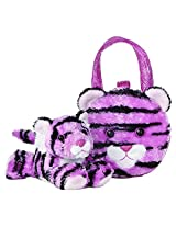 Aurora World 32694 Fancy Pals Pink Tiger Plush Toy Pet Carrier