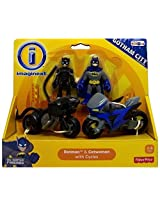 Fisher Price Imaginext Dc Gotham City Batman & Catwoman With Cycles Nip
