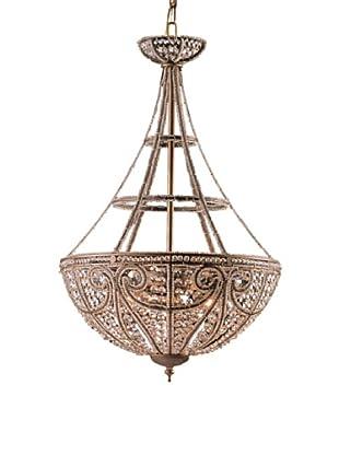 ELK Lighting Elizabethan 4-Light Pendant Ceiling Fixture, Dark Bronze