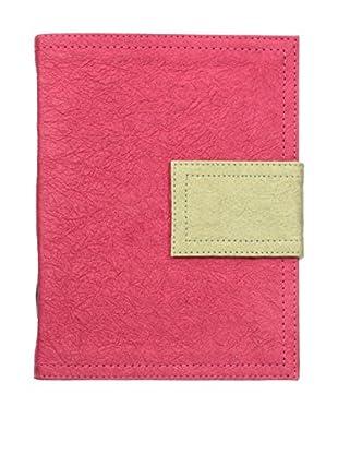 Marina Vaptzarov Medium Soft Vegetal Leather Cover Travel Diary, Pink/Grey