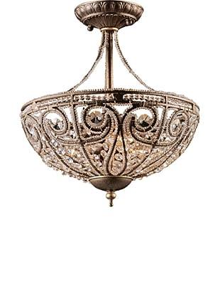 ELK Lighting Elizabethan 3-Light Semi Flush-Mount Ceiling Fixture, Dark Bronze