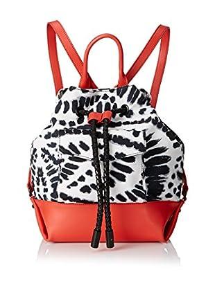 L.A.M.B. Women's Gracie 2 Backpack, Orange/Black/White