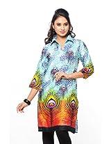 Purab Paschim Womens Cotton Multi-Colored Large Kurta