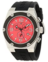 Swiss Legend Men's SL-30025-05-BB Throttle Black/Red Silicone Watch