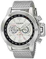 Akribos XXIV Men's AK515SSW Conqueror Stainless Steel Watch With Mesh Bracelet