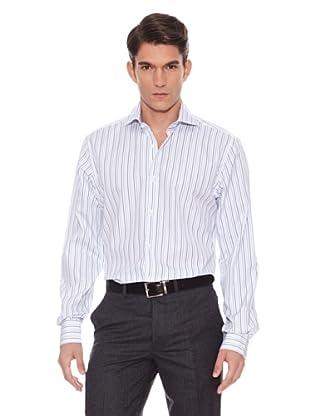 Hackett Camisa Rayas (Blanco / Turquesa)
