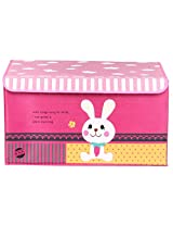 UberLyfe Pink House Shaped Storage Bin with Cute Rabbit for Kids - Large