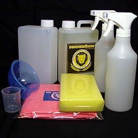 【クリックで詳細表示】コーティング剤 超撥水性能を装備したガラス繊維系コーティング剤・濃縮原液タイプのポリマーG1000・1000mlのセット: カー&バイク用品