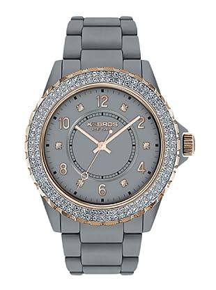 K&BROS 9558-10 / Reloj de Señora  con correa de plástico gris