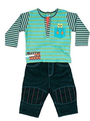 Cattimini Conjunto Camiseta / Pantalón Estampado (turquesa)