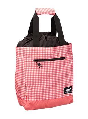PUMA Tasche Foundation Shopper (calypso coral pink/gingham print)