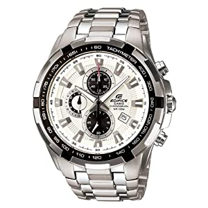 Casio Edifice Big White Dial Watch (Ef-539D-7Avdf)