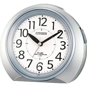 CITIZEN (シチズン) 目覚し時計 ネムリーナR05 電波時計 4RLA05-019 シルバーメタリック色