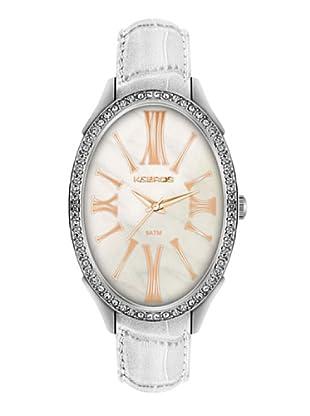 K&BROS 9169-2 / Reloj de Señora con correa de piel blanco