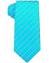 Scott Allan Men's Striped Tie - Iris Blue/White
