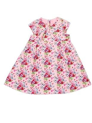 Kenzo Kids Vestido Estampado Plisado (Rosa)