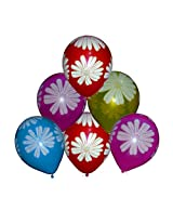 Tiger 50072 Floral Printed Balloon Multicolor (Pack of 30)
