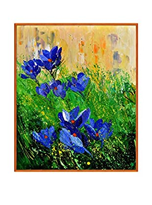 Pol Ledent Crocuses Framed Canvas Print