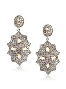 Belargo Women's Byzantine Embellished Drop Earrings, Silver/Wheat