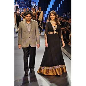 Ethnictrend Madhuri Dixit Gown - Black