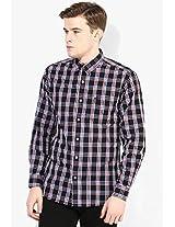 Black Checks Regular Fit Casual Shirt Wrangler