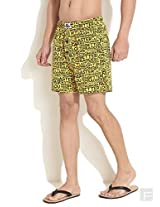 Cool Printed Messaging Boxers -Yellow-L