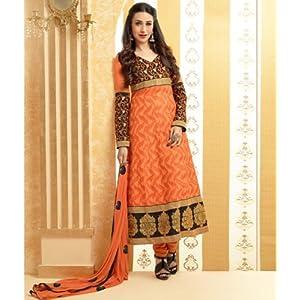Valuze Designer Anarkali Suit - Orange