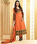 Valuze-Pristine Karishma Kapoor New Designer Orange Long Anarkali Suit