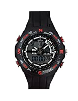 Maxima Fiber  Analog-Digital Black Dial Men's Watch - 32700PPAN