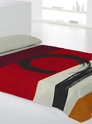 Euromoda Lencería Juego de Sábanas Enzo (Rojo / Negro / Amarillo)