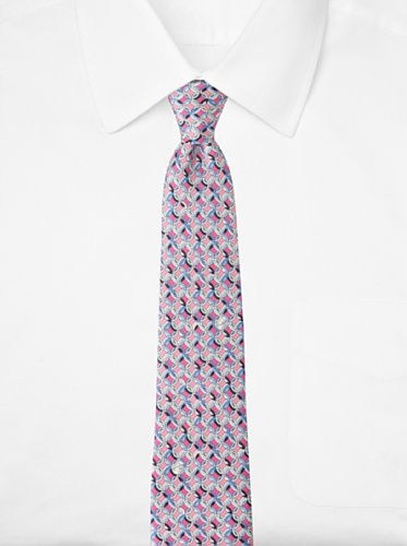 Emilio Pucci Men's Linked Circle Tie, Blue/Pink
