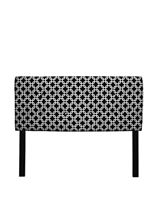 Sole Designs 8-Button Tufted Chains Headboard (Black/White)