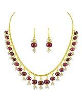 Sri Jagdamba Pearls 22k Yellow Gold and Emerald Chain Necklace