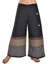9Rasa Womens Cotton Trousers ,Black ,Free Size