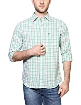 Allen Solly Men Slim Fit Shirt_AMSF515G06218_39_Green