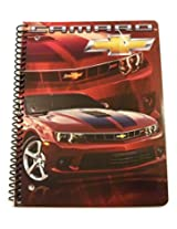 """Muscle Car Spiral Notebook ~ Chevrolet Red 2015 Camaro 2SS Convertible (8"""" x 10.5""""; 70 Sheets, 140 P"""