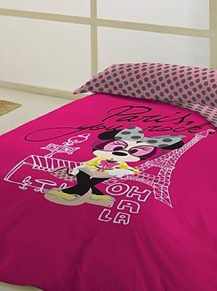 Disney Juego de Funda Nórdica Minnie París (Fucsia)