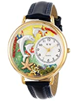 Whimsical Watches Unisex G0140004 Dolphin Blue Leather Watch