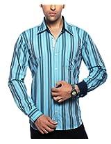 Moksh Men's Striped Casual Shirt V2IMS0414-253 (X-Large)