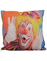 Twisha Joker Shouting Printed Pillow 12 X 12 X 4 Inch