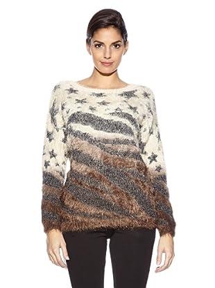 Love U Pullover Etoile (Ecru/Taupe)