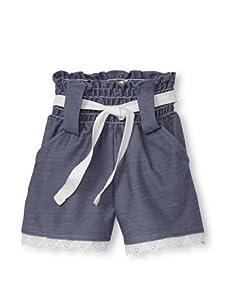 Lunchbox Girl's Denim Shorts (Vintage Wash)