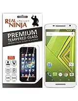 Real Ninja Premium Tempered Glass Screen Protector for Motorola Moto X Play