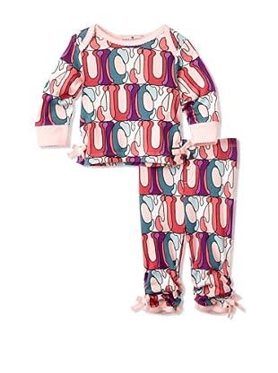 Juicy Baby 2-Piece Pant Set (Bubble Print)